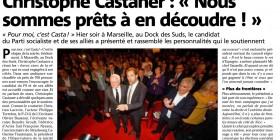J'apportais hier mon soutien à Marseille à Christophe Castaner, candidat socialiste pour les élections régionales en PACA