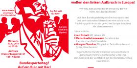 Je participerai mercredi 9 décembre à la rencontre de l'aile gauche du SPD à Berlin