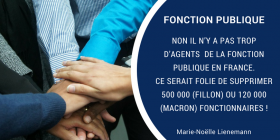 NON la France n'a pas trop d'agents publics (il y a encore de nombreux emplois à créer)...