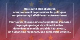Macron et Fillon : deux voix pour hâter le naufrage de l'Europe (2) mais il existe une alternative !
