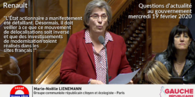 Situation de Renault & menace de fermetures de site - Questions d'Actualité au Gouvernement 19/02/2020