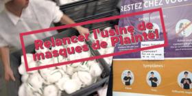 Projet de relance de l'usine de masques de Plaintel (Côtes-d'Armor) - question écrite du mardi 14 avril 2020