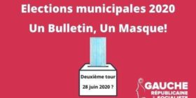 Mise à disposition de masques pour le second tour des élections municipales - Question écrite au gouvernement (lundi 25 mai 2020)