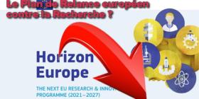 Dangers pour le financement de la Recherche en France et dans l'Union européenne - question écrite au gouvernement, 17 septembre 2020