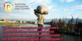 Protection des réfugiés climatiques - Question écrite du 9 septembre 2020