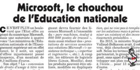 Microsoft, marchés publics, numérique et enseignement - questions écrites au gouvernement (9 septembre 2020)