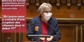 Réforme du CESE : le gouvernement et la droite sénatoriale ont peur de l'irruption des citoyens dans le débat public