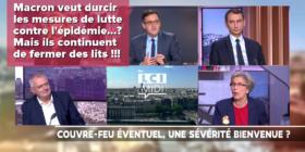 Macron veut durcir les mesures de lutte contre le COVID !? Mais ils continuent de fermer des lits !!! - LCI, mercredi 14 octobre 2020